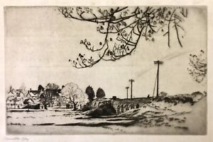Etching by James Hamilton Hay LG, 1874-1916 Wimborne 1914 Signed & Dated