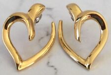 Valentine's Day Earrings Abstract Gold Plated Heart