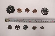 LK20 Japanese Kimono Stencil Set 10 pieces Kamon Family crestAntique Katagami