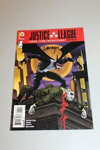 SIGNED JUSTICE LEAGUE GODS AND MONSTERS BATMAN #1 VARIANT EDITION Darwyn Cooke