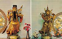 First Chinese Buddhist Temple of Hawaii 1960s Hawaii Postcard Temple Gods