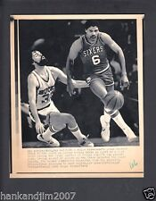 Julius Erving 1982 Playoffs 76er Small Vintage A/P Laser Wire Photo with caption