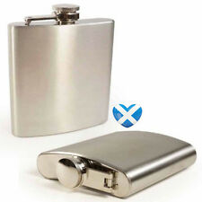 Stainless Steel Hip Flask 7oz Stainless Steel - Whiskey Scotland Highland
