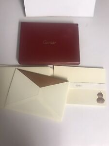 Set Of 9 Cartier Note Cards & Envelopes In Box