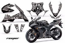 AMR Racing Graphics Decal Wrap Kit Yamaha R1 Street Bike 2004-2005 REAPER SILVER