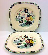 "Minton ""Oriental"" Pattern Matched Pair Square Plates."
