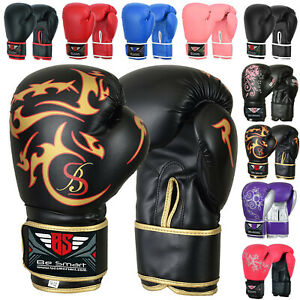Pro Leather Boxing Gloves, MMA, Sparring Punch Bag, Muay Thai Training Gloves