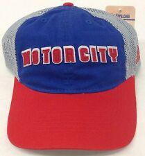 NBA Detroit Pistons Adidas  Motor City Mesh Back Snap Back Cap Hat Style #EX46Z