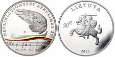 """Lithuania 20 euro coin 2015 """"Restoration of Lithuania's independence"""""""
