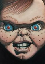 More details for original aceo art sketch card chucky child's play horror ink