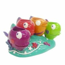 Allure Something's Fishy Holds 4 Toothbrush Holder Fish Whimsical