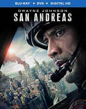 San Andreas (Blu-ray/DVD, 2015, 2-Disc Set) & Digital Copy
