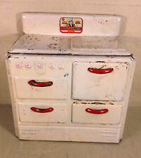 Vintage Pretty Maid Play Stove Oven