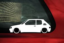 2x Baja Peugeot 205 GTI 1.9/1.6 Gr, D Turbo, GRD Contorno Pegatinas