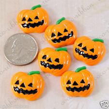 12pcs 24mm Halloween Pumpkin Fall Flatback Resin Cabochon