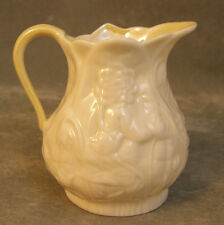 Belleek Pottery Mini Creamer Lotus 4th Mark Green EXC