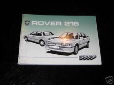 Betriebsanleitung Rover 216 von 1985