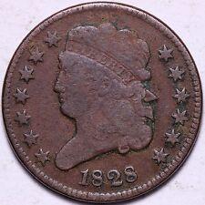 1828 13 Stars Classic Head Half Cent R5TEL