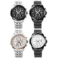 CURREN Men Aviator Casual Chronograph Steel Strap Date Quartz Watches Wristwatch