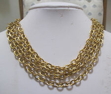 NAPIER 5-Strand Multi-Strand Goldtone Oval Chain Link Necklace NEW NWT