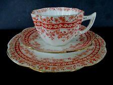 More details for antique / vintage china tea set trio.foley wileman pre shelley.violet shape.9357