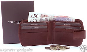 MEN'S QUALITY LUXURY REAL SLIM LEATHER WALLET WITH SIDE COIN POCKET 4009 BROWN