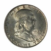 1948 Franklin Half Dollar PCGS MS65FBL