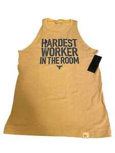Under Armour Project Rock Hardest Worker In The Room Sleeveless Tank Size Medium