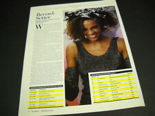 Whitney Houston Record Setter 1963-2012 detailed Promo Display Ad page