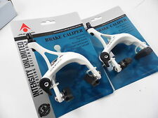 Acor Comp Road Bike Dual Pivot Caliper Brake With 39-51mm Reach White Front