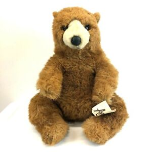 "Avanti North American Brown Bear Plush Jockline Italy 1982 Applause 20"" Tag"
