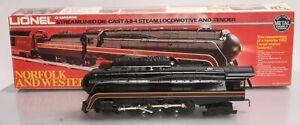 Lionel 6-8100 Norfolk & Western 4-8-4 Steam Locomotive & Tender #611 LN/Box