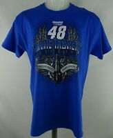 #48 Jimmie Johnson & #14 Tony Stewart Nascar Men's Blue Short Sleeve T-Shirt