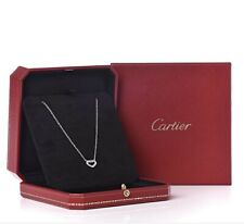 Authentic Cartier 18k White Gold Heart Necklace With Diamonds