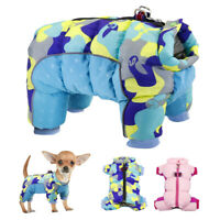 Winter Dog Coat Puppy Snowsuit Clothes Reflective Small Dog Jumpsuit Down Jacket