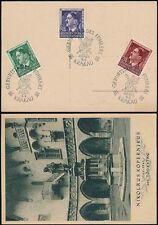 POLAND 1944 PPC NIKOLAUS KOPERNICUS STATUE...KRAKOW...GENERAL GOVERNMENT SET
