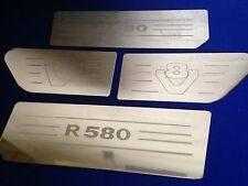 scania V8 r580 4 piece stainless steel  Etched Logo wing and air dam plates