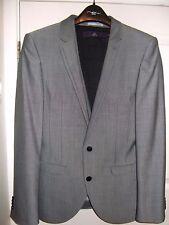 """Men's Next grey 4 piece suit (jacket & waistcoat 36"""" R, 2 pairs trousers 32""""S, )"""
