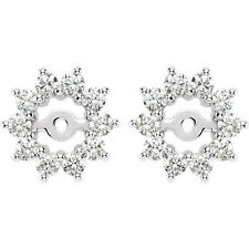 Diamond Earring Jackets In 14K White Gold (5/8 ct. tw