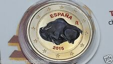 2 euro 2015 Spagna colorato color Espagne Espana Spain Altamira UNESCO Испания