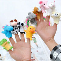 10Pcs/Pack Baby Kids Finger Animal Educational Story Toys Puppets Cloth Plush LW