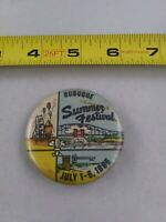 Vintage Dubuque Iowa 1960's Summer Festival 1965 pin button pinback *EE90