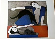Will Barnet The Blue Robe Mini Poster-Offset Lithograph Unsigned 16x11