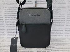 TED BAKER Mini Flight Bag Contrast Trim Canvas Grey Body Shoulder Bags New  RP£49 3494bf2736671
