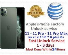 at&t iphone 10 8 7 plus 6s 6 pro max xs xr x se apple Factory Unlock Service att