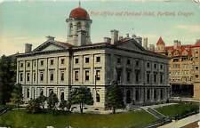 DB OR Postcard C910 Cancel 1912 Post Office Portland Hotel Street View Oregon