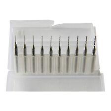 Pack of 10 Carbide Micro Drill Bits CNC PCB  (0.3-1.2mm) K1U5