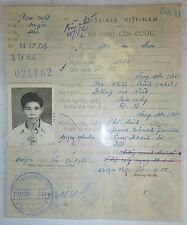 FRENCH FOREIGN LEGION - Military ID CARD - SAIGON - 1955 - Vietnam Indochina War