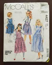 Mc-4427 Jumper Sewing Pattern McCall's Girl Size 7 Uncut