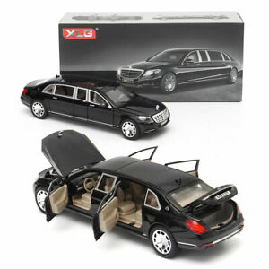 1:24 For Mercedes Maybach S600 Limousine Diecast Metal Model Car Box Xmas Gift